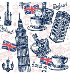 London Seamless Pattern vector