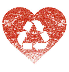 Love recycle grunge texture icon vector