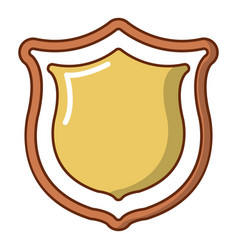 medieval shield icon cartoon style vector image