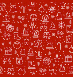 Merry christmas party celebration seamless pattern vector