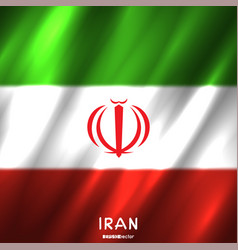 National iran flag background vector