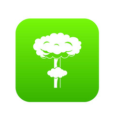 nuclear explosion icon digital green vector image