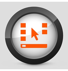 Orange and gray elegant glossy icon vector