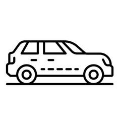 petrol car icon outline style vector image
