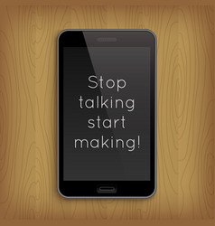 Phrase in realistic phone vector