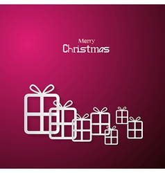 Pink Abstract Merry Christmas Background vector image