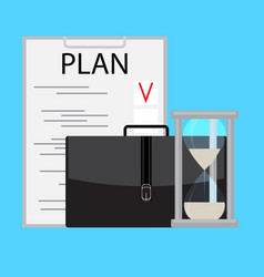 planning and managing time business vector image