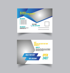 Post card template design vector