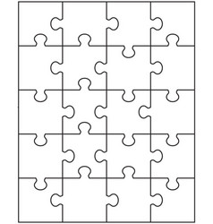 puzzle separate parts vector image