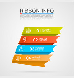ribbon list options vector image