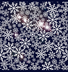 seamless navy blue background with snowflakes vector image