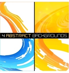 Set of polygonal abstract backgrounds vector image