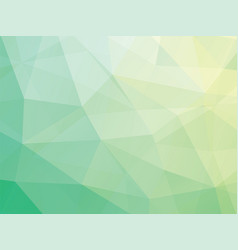 triangular green background vector image