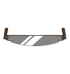 two handed saw vector image
