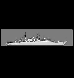 Type 22 batch iii broadsword-class frigate vector