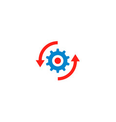 upgrade software icon vector image