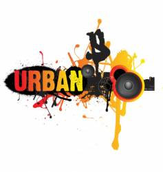 urban break dance music vector image