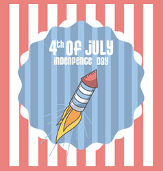 usa indepence day design vector image