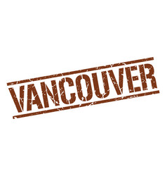 vancouver brown square stamp vector image