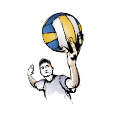 volleyball player vector image