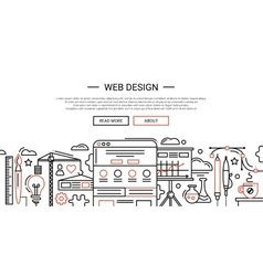 Web Design - line website banner temlate vector