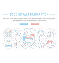 Website banner and landing page food fast vector