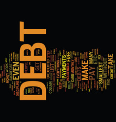 Your guide on how to be debt free text background vector