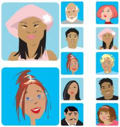face set vector image vector image