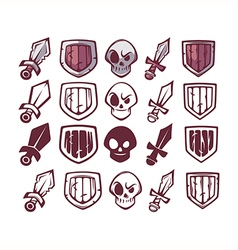 game design icons vector image vector image