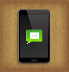 green text bubble in phone vector image vector image