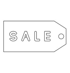 label sale the black color icon vector image vector image