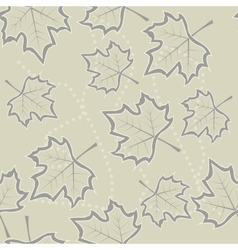 maple leaves seamless background vector image
