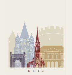 metz skyline poster vector image vector image