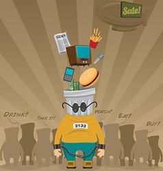 Consumer Society vector image vector image