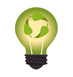 economy bulb isolated icon vector image