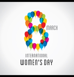 happy womens day design 8 design by balloons vector image vector image