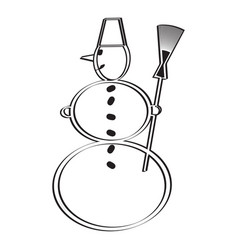 icon with a snowman vector image vector image