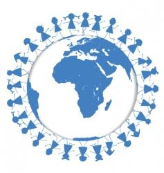 world children vector image vector image