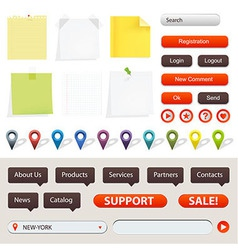 GPS Navigation Elements vector image vector image