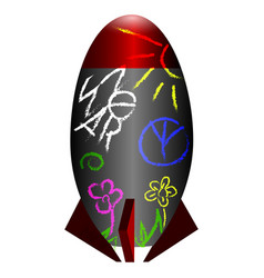 isolated rocket icon vector image vector image