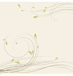 Abstract spring background with some plant swirls vector image vector image