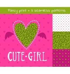 Fancy girlish set vector image