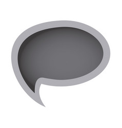 grayscale oval chat bubble icon vector image