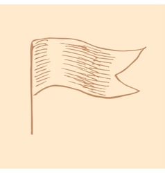 waving flag in vintage engrave style vector image