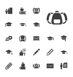 22 student icons vector