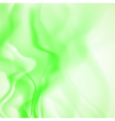 Abstract background of green smoke vector image