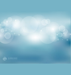 abstract blue blurred with bokeh background vector image