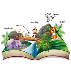 Animal book vector image