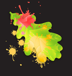 autumn fall concept bright orange and red vector image