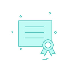 award diploma icon design vector image